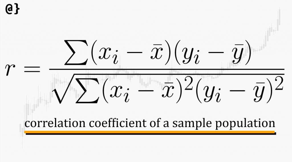 correlation coefficient formula sample population