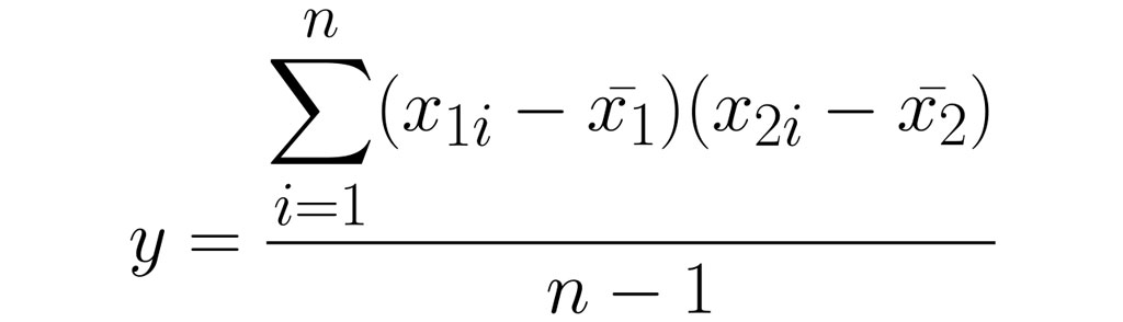 covariance equation stacked displaystyle notation