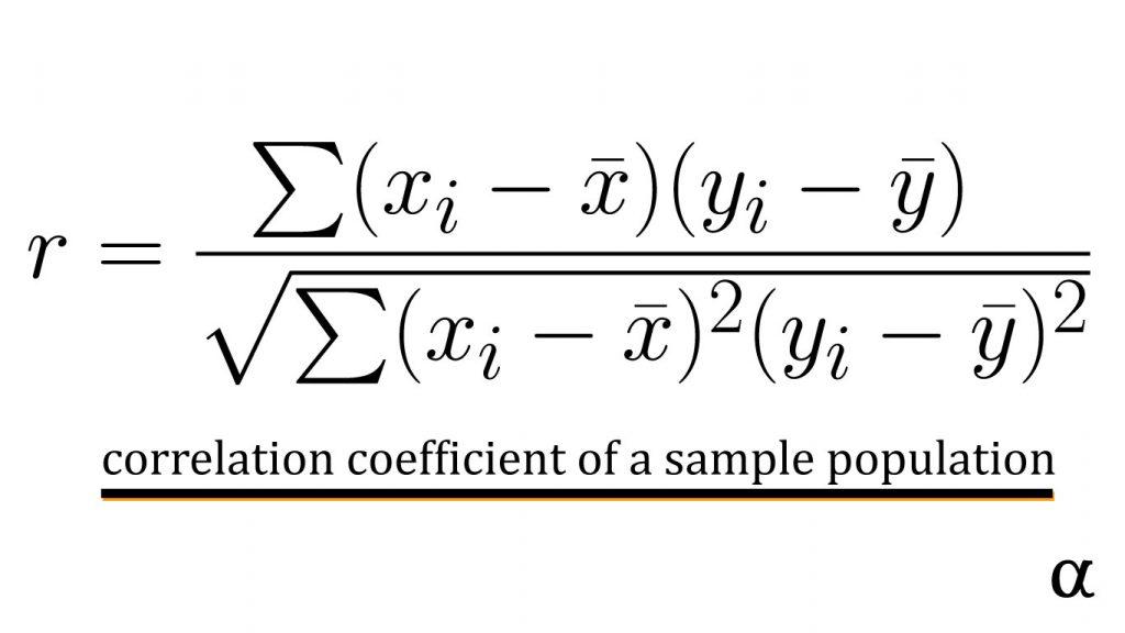 linear model correlation calculation