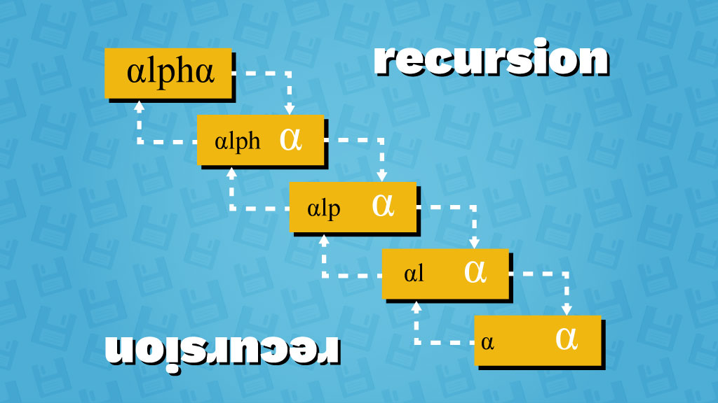 recursion illustration diagram alpharithms