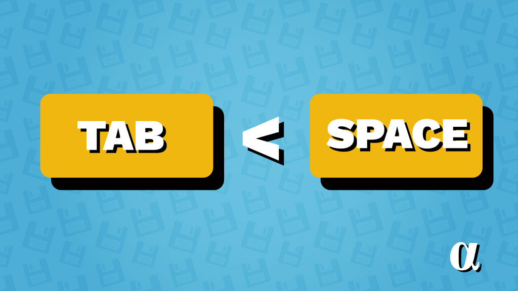 tabs vs spaces illustration alpharithms