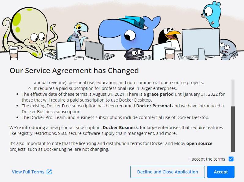docker windows user agreement 2