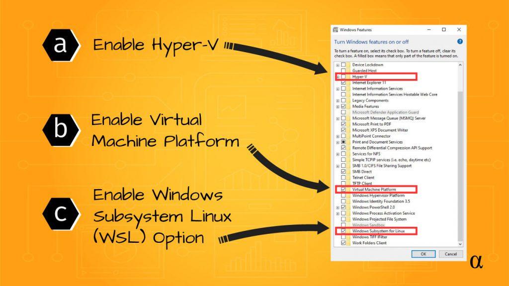 virtual machine platform WSL enabled windows services 1