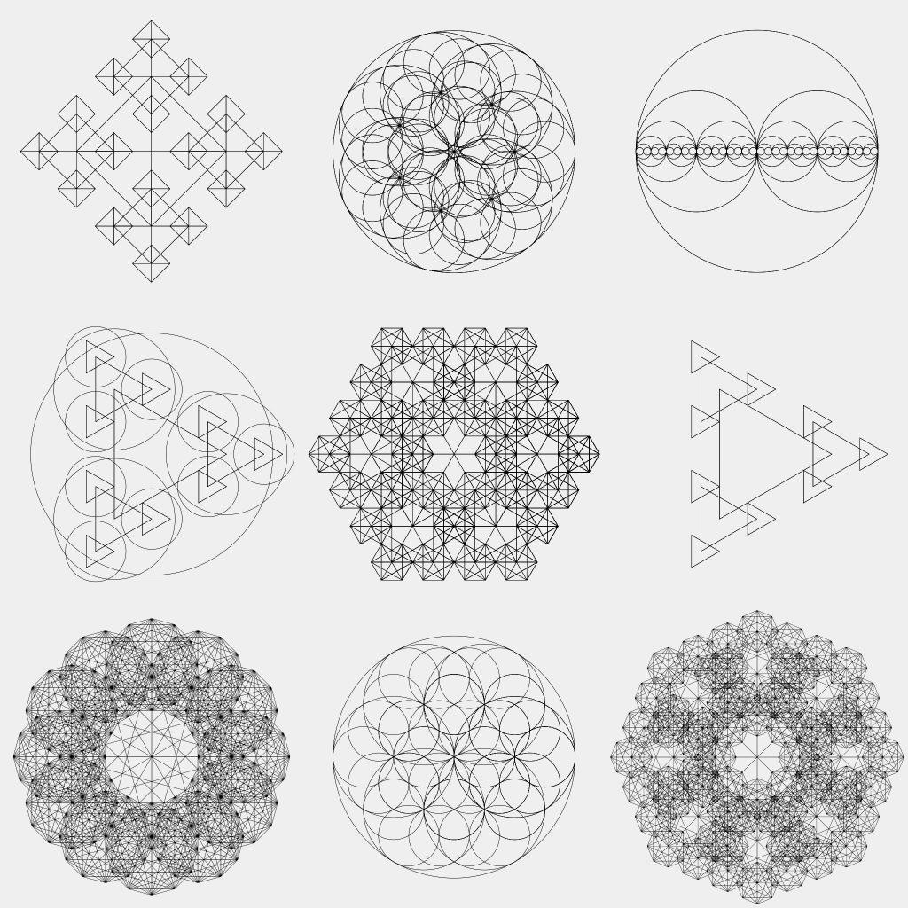 circle patterns alpharithms