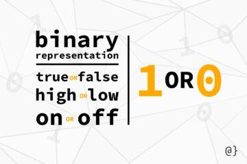 binary notation banner