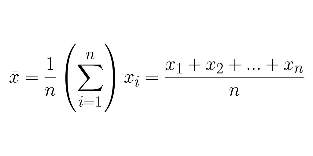 arithmetic mean equation