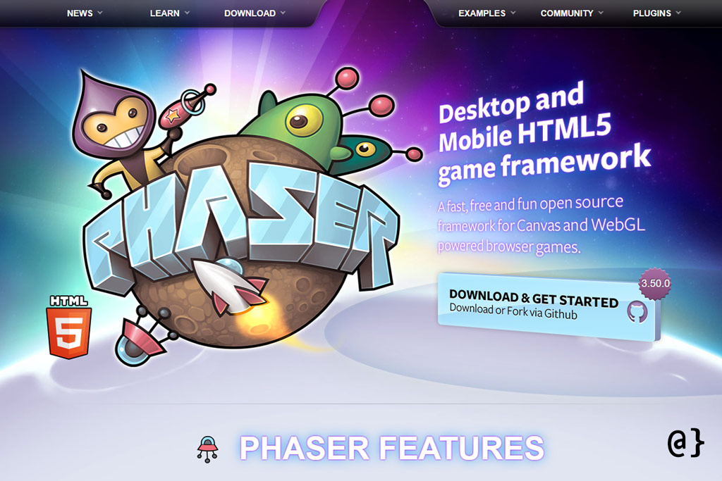 javascript game engines phaser