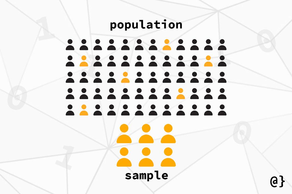 sample vs population statistics comparison