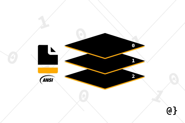 ansi sparc database architecture illustration logo overcoded
