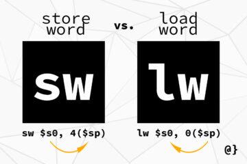 mips store word vs load word