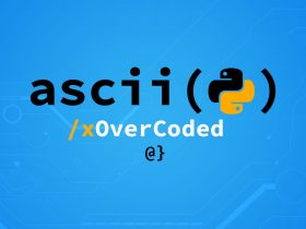 python ascii function banner overcoded