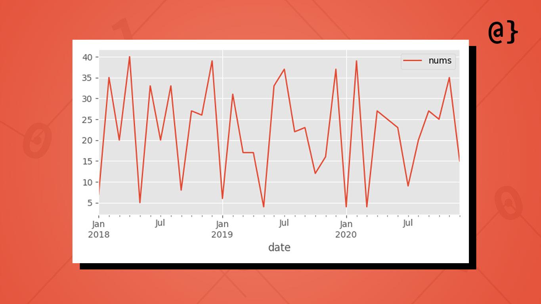 pandas time series random data