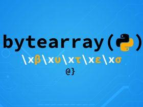 python bytearray function