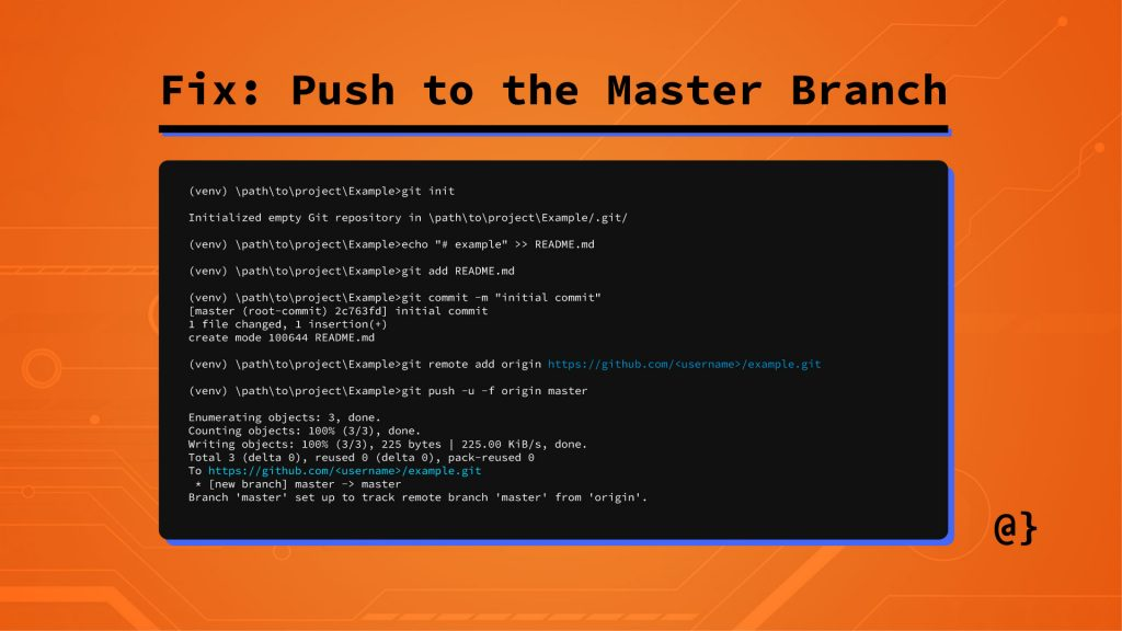 workaround push to master